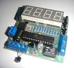 Термостат на DS18B20 и ATmega8
