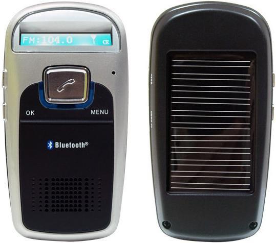 BTC09. Bluetooth-гарнитура свободные руки для автомобиля с зарядкой от солнечной батареи и FM-передатчиком