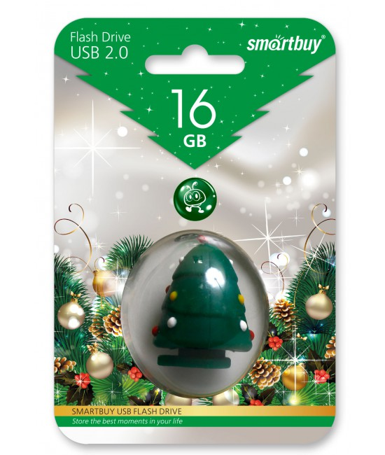 USB накопитель 16GB SMARTBUY Xmass tree