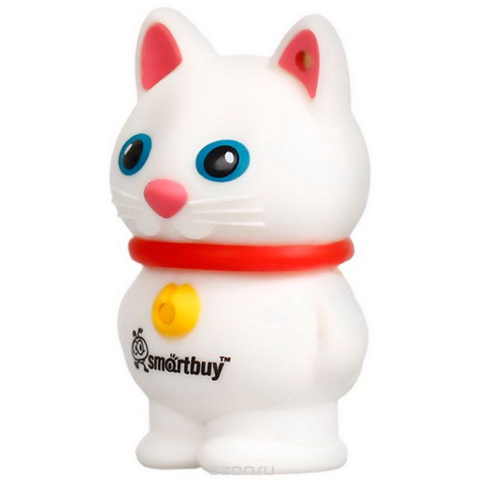 USB накопитель 8GB SMARTBUY Wild series Catty White        Новинка!