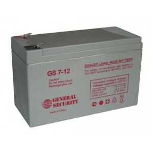Аккумулятор GENERAL SECURITY GS 12-7.2 (12V 7.2Ah) 151x65x100мм
