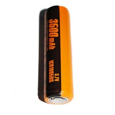 ET ICR18650S-PCM (3500/2600mAh) аккумулятор Li-ION 3, 7V с защитой высокий