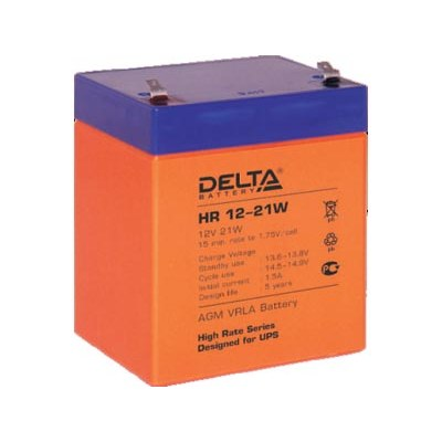 Аккумулятор DELTA HR12-21W (12V 5.0Ah, 90x70x108mm)