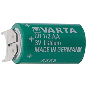 VARTA CR1/2AASLF Lithium Cylindrical Cells (Li-MnO2) с выводами три ноги 3V/1000mAh (25)