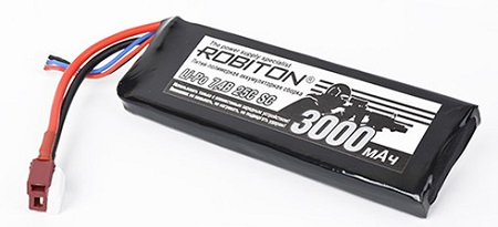 Сборка полимерная ROBITON LP-STB2-3000 (7,4V 3000mAh 25C-rate) Box-Type 2 пластины Li-Pol