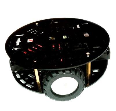 Шасси круглое, двухколёсное с шариковой опорой
