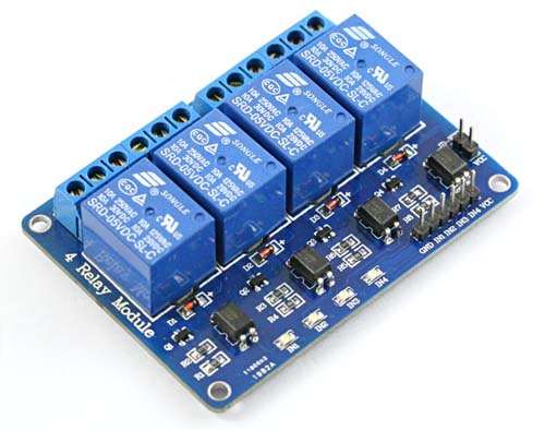 Платы расширения 4-Channel 5V Relay Module for Arduino