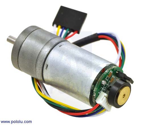 Коллекторные моторы 9.7:1 Metal Gearmotor 25Dx48L mm  with 48 CPR Encoder