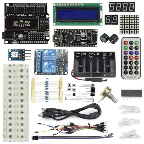 Наборы на базе Arduino NanoV3+Prototype Shield Starter Kit with 17 Basic Arduino Projects