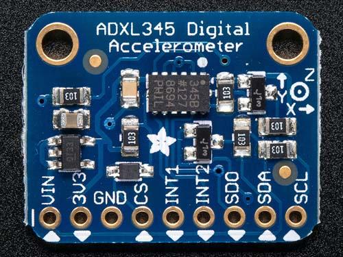 Акселерометры, гироскопы, магнитометры ADXL345 - Triple-Axis Accelerometer [+-2g/4g/8g/16g] w/ I2C/SPI]