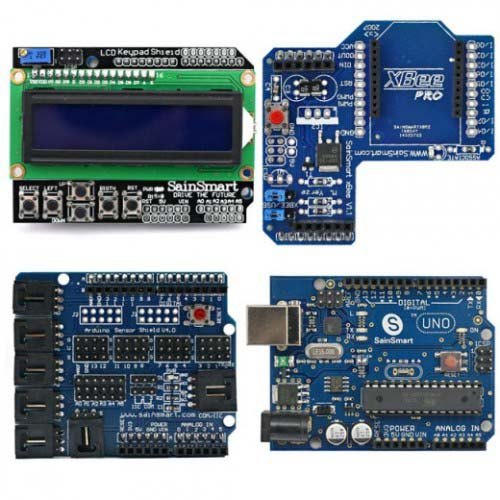 Наборы на базе Arduino Arduino UNO+LCD Keypad Shield+XBee Shield+Sensor Shield V4 kit
