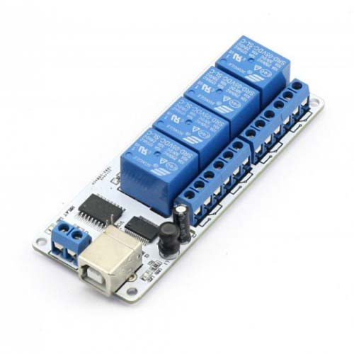 ��������� ���� 4-channel 5V USB Relay Board Module Controller For Automation Robotics