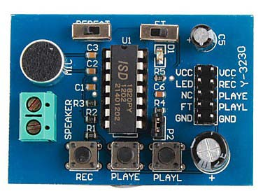 Платы расширения ISD1820 Sound Voice Board [Recording and Playback Module]