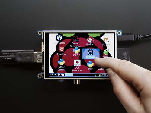 Датчики дистанции, движения, препятствий PiTFT - Assembled 480x320 3.5 TFT+Touchscreen for Raspberry Pi