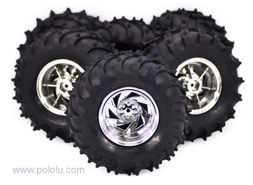 Платформы и колёса Pack of 4 all terrain wheels Silver