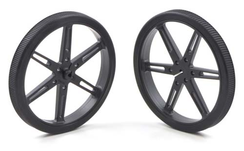 Платформы и колёса Wheel 80x10mm Pair - Black