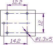 Реле электромеханическ ое  812H-1C-C 12VDC