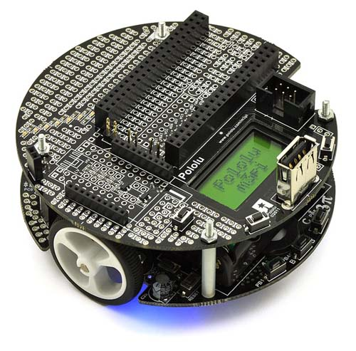 Роботы Pololu m3pi Robot with mbed Socket