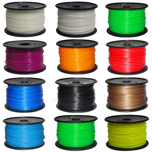 АБС Пластик ABS plastic 1.75mm for 3D printers. 1000g. [Fluorescence blue]