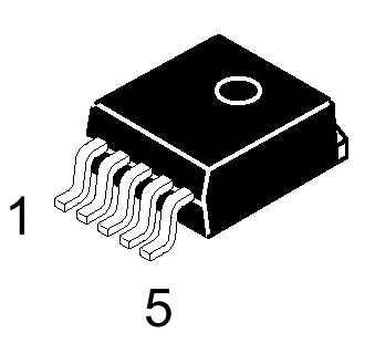 ON Semiconductor DC-DC преобразователь интегральный LM2575D2T-5R4G