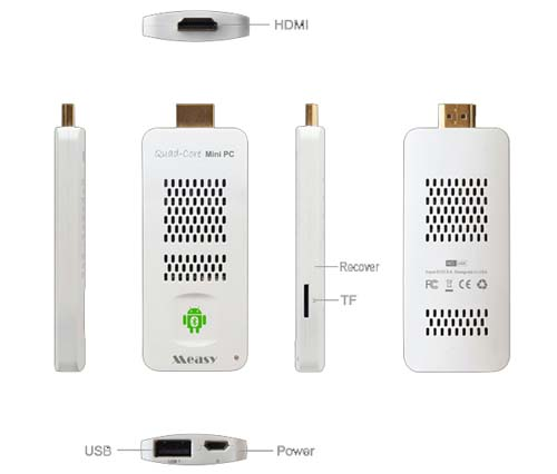Мультимедийный MiniPC KIT U4K. Allwinner A31, Android 4.1, Bluetooth 4.0, RAM 2G, flash 8G