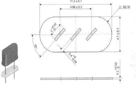 Частотный резонатор KX-INS INSULATOR FOR KX-3H [KX-49]