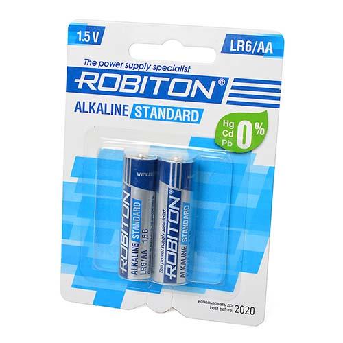 Стандартный элемент питания BAT [AA] ROBITON STANDARD LR6 BL2