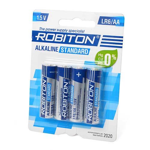 Стандартный элемент питания BAT [AA] ROBITON STANDARD LR6 BL4