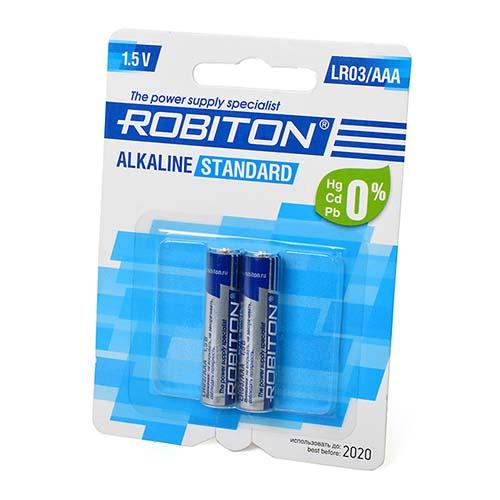 Стандартный элемент питания BAT [AAA] ROBITON STANDARD LR03 BL2