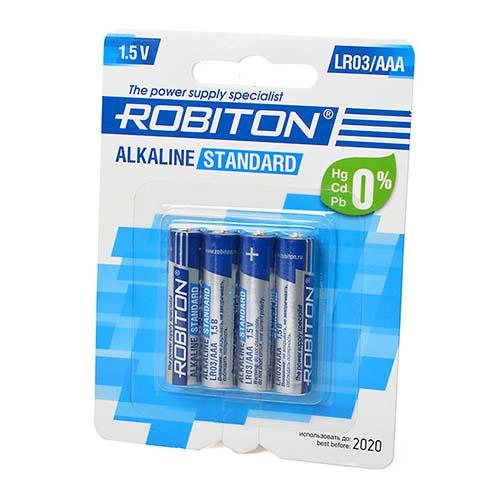 Стандартный элемент питания BAT [AAA] ROBITON STANDARD LR03 BL4