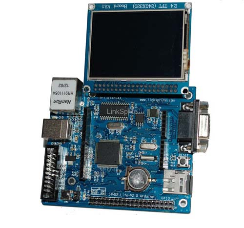 Контроллеры Spruce - STM32 Arduino with with 2.8 Touch LCD Shield