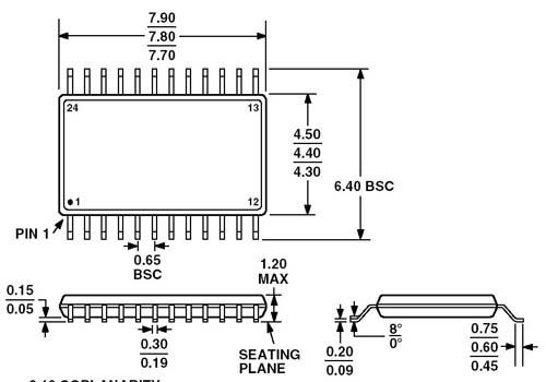 NXP Драйвер светодиодного индикатора PCA9532PW.112