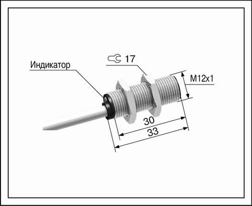 Мега-К Датчики индуктивный ВБ2.12М.33.2.1.1.К