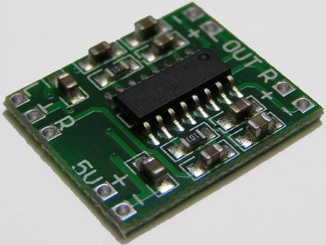 Модуль RS003. Цифровой стерео УНЧ D-класса на микросхеме PAM8403 (2 канала по 3 Ватта)