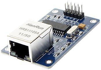 Модуль RF007. Ethernet модуль на базе микросхемы ENC28J60