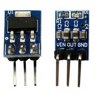 Модуль RP022. Преобразователь с 5 Вольт в 3.3 Вольта. AMS1117-3.3 LDO 800 мA
