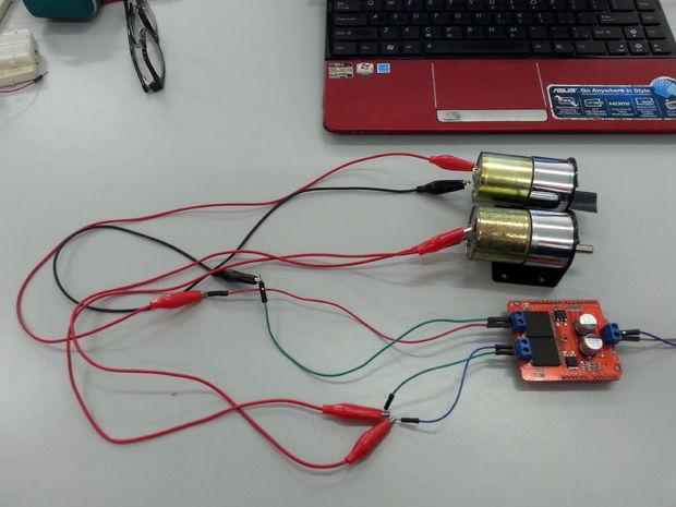 Шилд мощных (до 30 Ампер) мостовых драйверов электродвигателей VNH2SP30