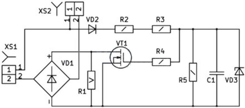 Конструктор УНЧ Радио КИТ RS210B - стерео УНЧ 2х22 Вт