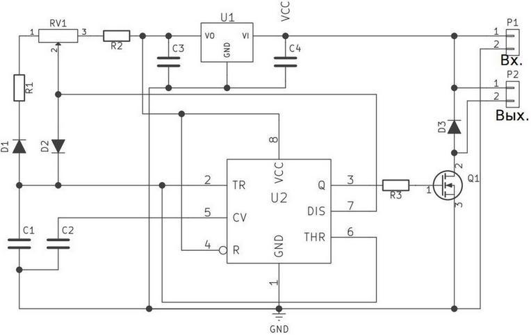Радиоконструктор RP124.1M. Регулятор мощности с ШИМ I=10 A