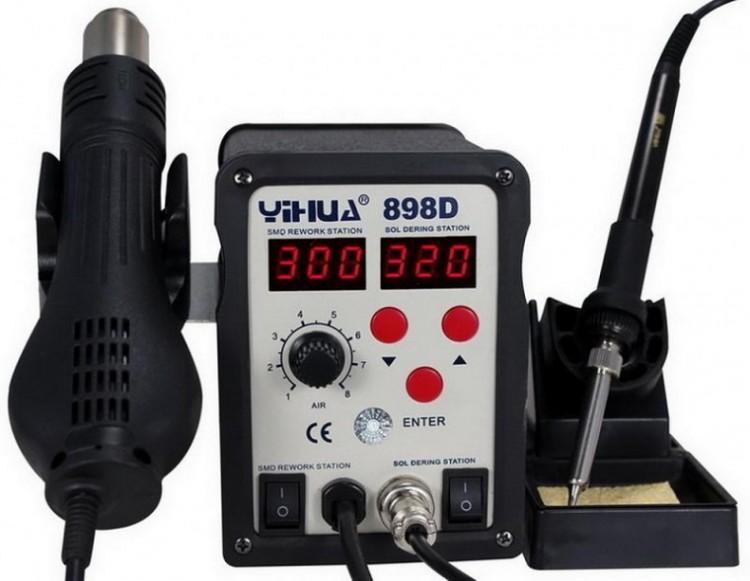 Термовоздушная паяльная станция YIHUA 898D