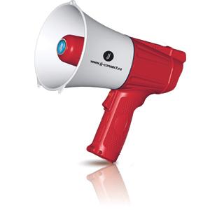 Мегафон JJ-CONNECT Megaphone M 100 красно-белый