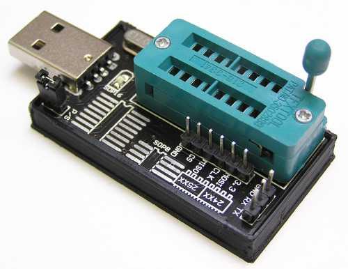 Модуль RC034. USB Программатор микросхем FLASH/EEPROM памяти серий 24x и 25x