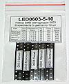 Набор LED0603-5-10 чип-светодиодов типоразмера 0603