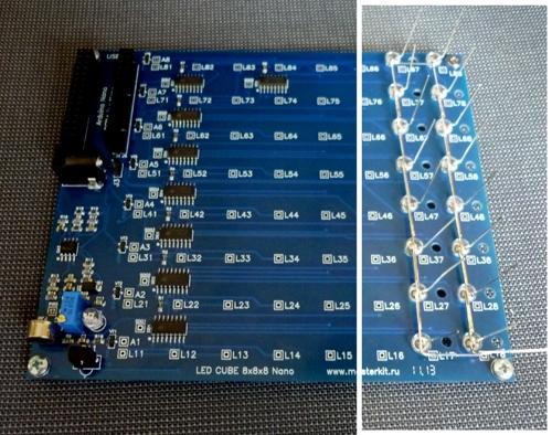 LED CUBE 8x8x8 Nano - Плата