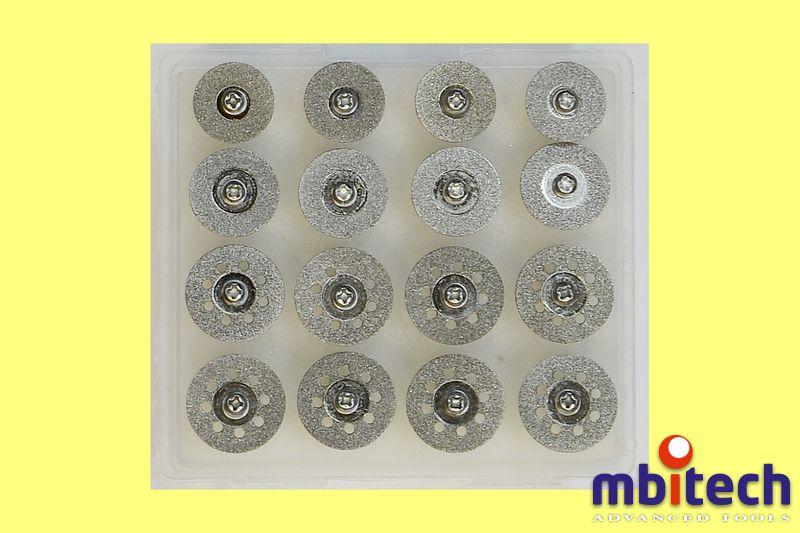 Круги шлифовальные на держателях. Набор из 16-ти кругов