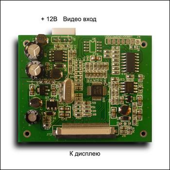 MP2902 monitor - Цветной 2,5 TFT-LCD модуль разрешением 320 x 240 с видеоконтроллером.