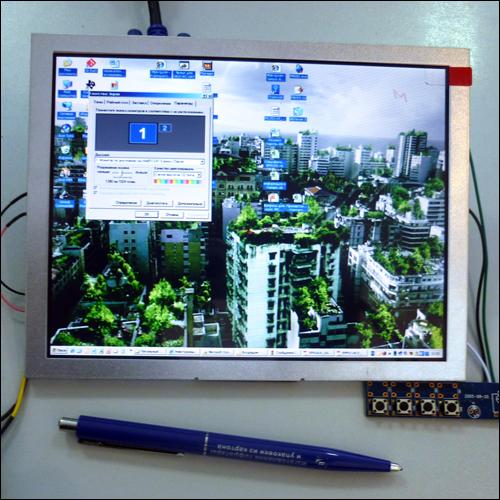MP2908VGA - Цветной 8 TFT-LCD модуль разрешением 800 x 600 с VGA входом.
