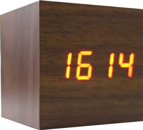ZJ-009. Деревянные LED-часы «Куб»