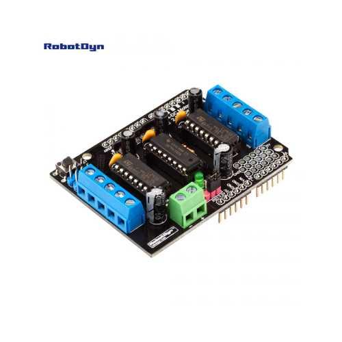 Шилд - Мотор L293D 4DC/2 Степ мотора для Arduino