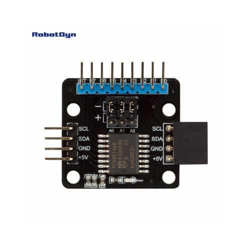 RobotDyn Модуль расширитель портов I2C 8-bit I/O expander, PCA8574AD